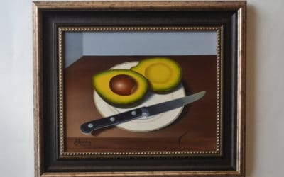 Sliced avocado on a plate