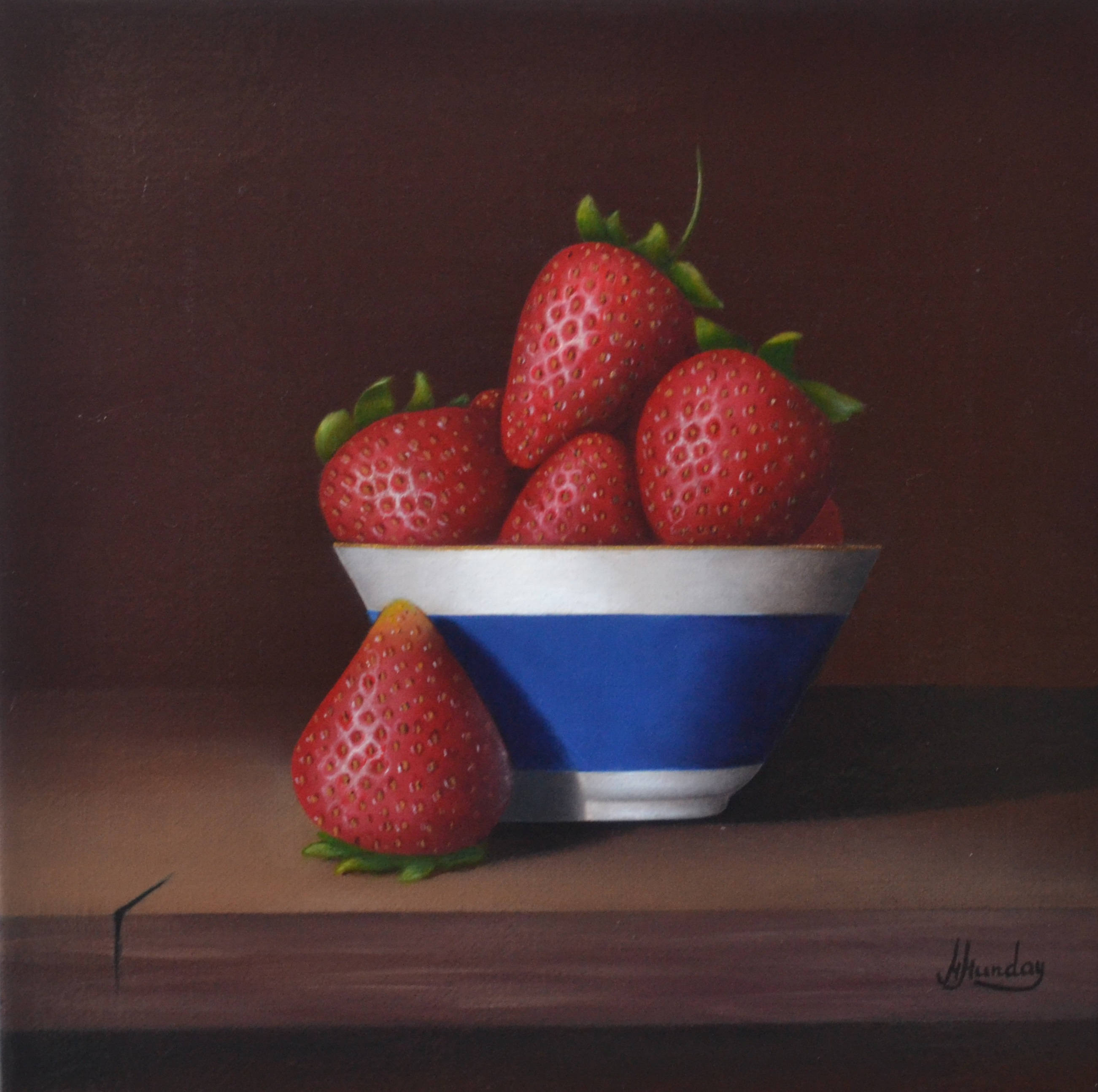 A Bowl Of Strawberries Margo Munday Fine Art Classical And Contemporary Acrylic Painting